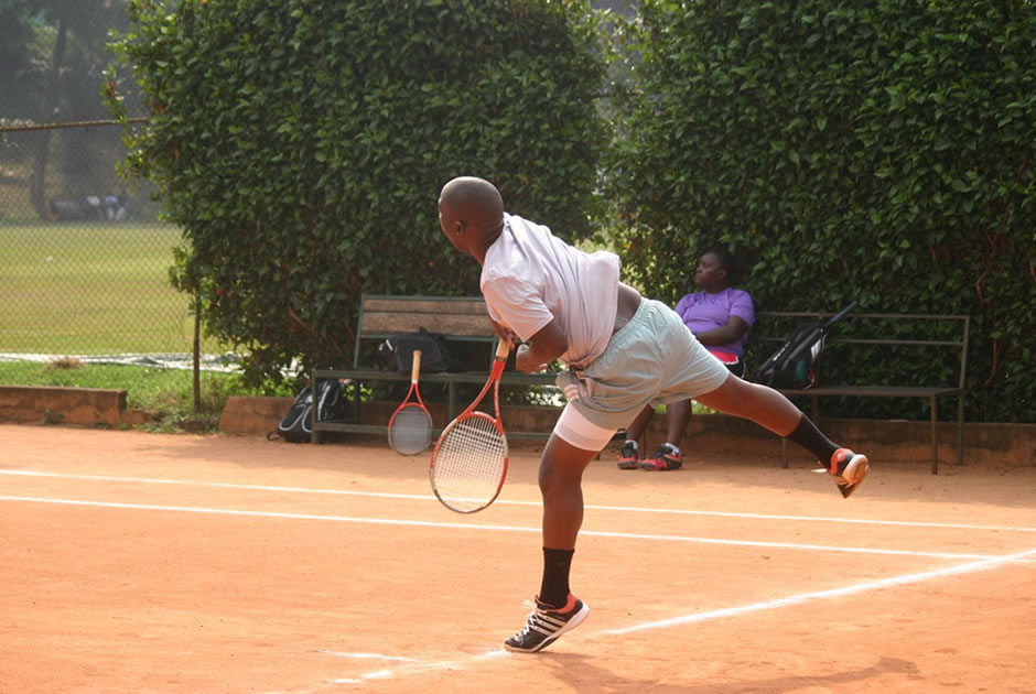 Playing Tennis in Kampala